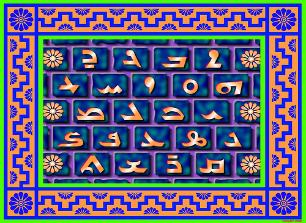 Assyrian alphabet table by Sargon 1