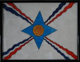 Assyrian flag by Ellerum Shamoon