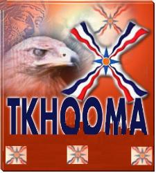 Assyrian flag, eagle and Tkhooma writting
